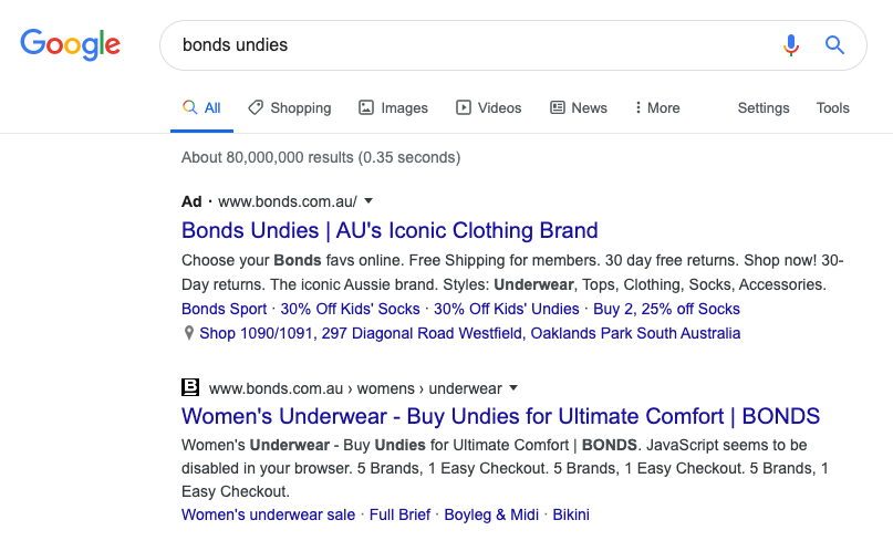 Advertise On Your Own Brand - Bonds