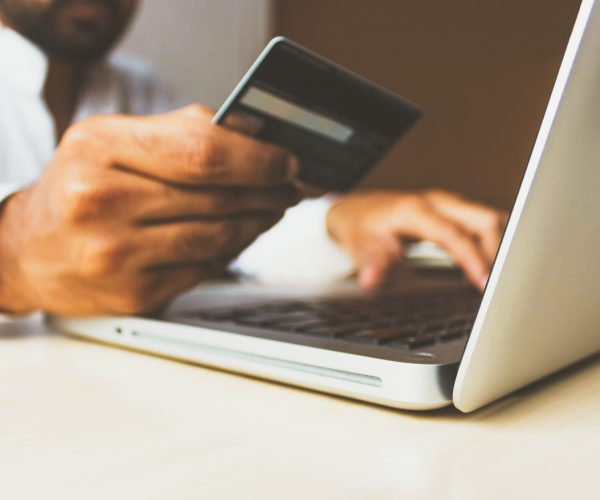 man buys from e-commerce ready website